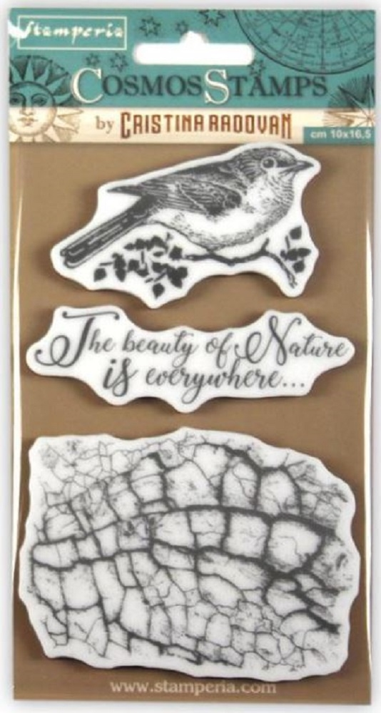 Stamperia COSMOS BIRD Cling Stamp wtkccr02 zoom image