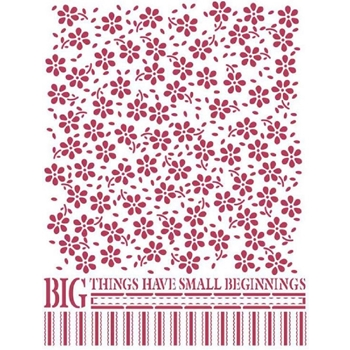 Stamperia LITTLE FLOWERS TEXTURE Stencil ksd306