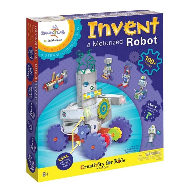 Faber-Castell INVENT A MOTORIZED ROBOT KIT Creativity For Kids 3613000* zoom image