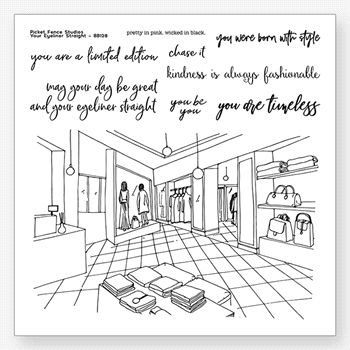 Picket Fence Studios YOUR EYELINER STRAIGHT Clear Stamps bb128