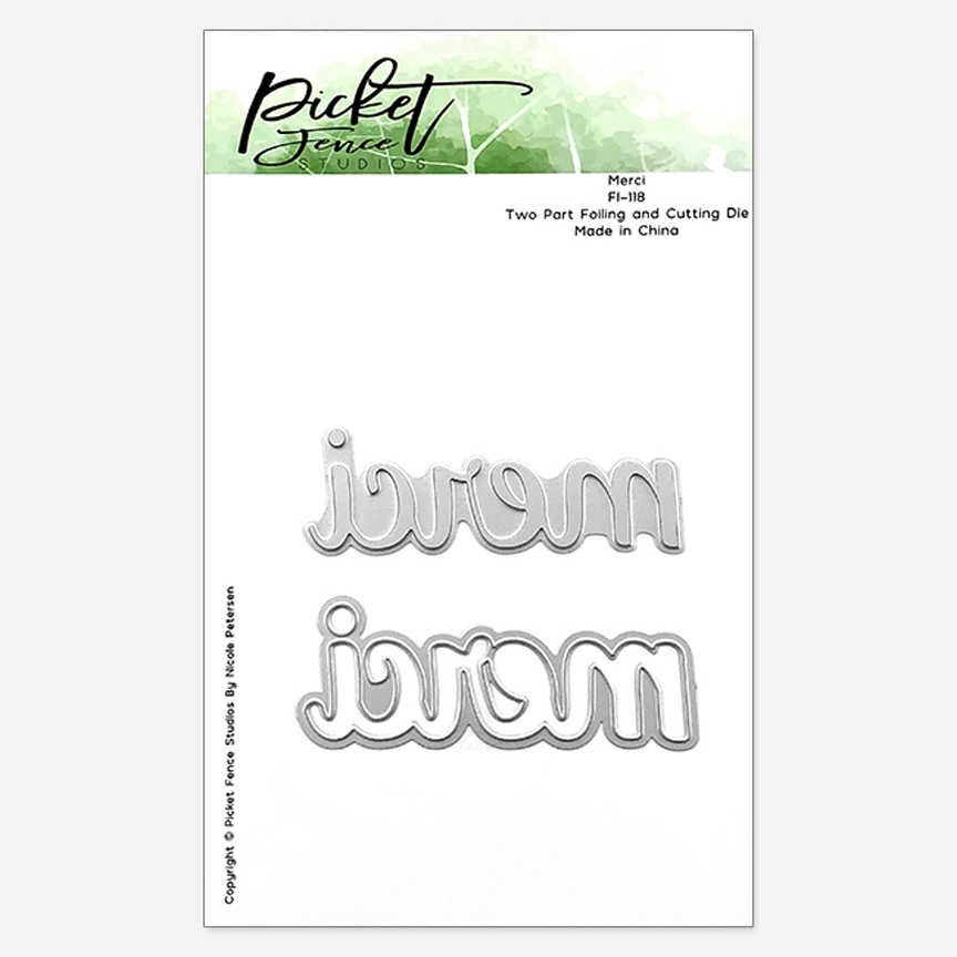 Picket Fence Studios MERCI Foiled Impression Die Combo fi118 zoom image