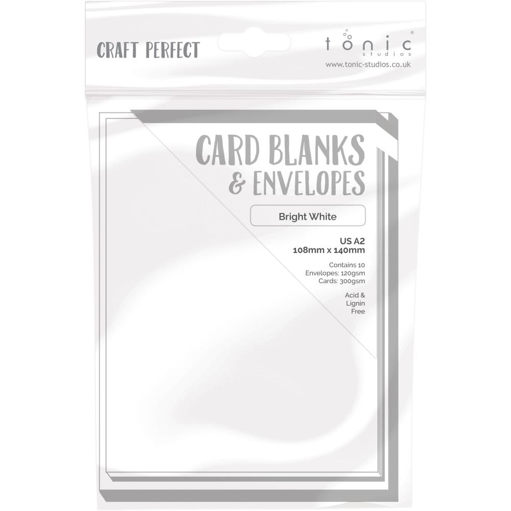 Tonic BRIGHT WHITE Craft Perfect A2 Card Blanks 9253e zoom image