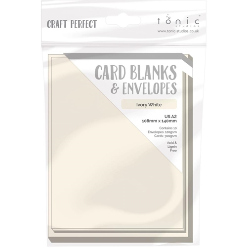 Tonic IVORY WHITE Craft Perfect A2 Card Blanks 9254e Preview Image