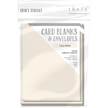Tonic IVORY WHITE Craft Perfect A2 Card Blanks 9254e