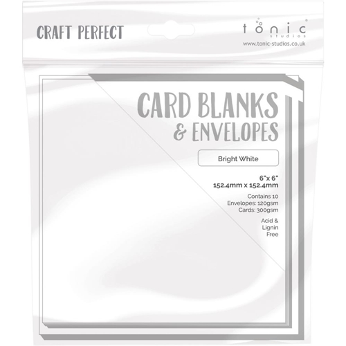 Tonic BRIGHT WHITE Craft Perfect 6 x 6 Card Blanks 9291e Preview Image