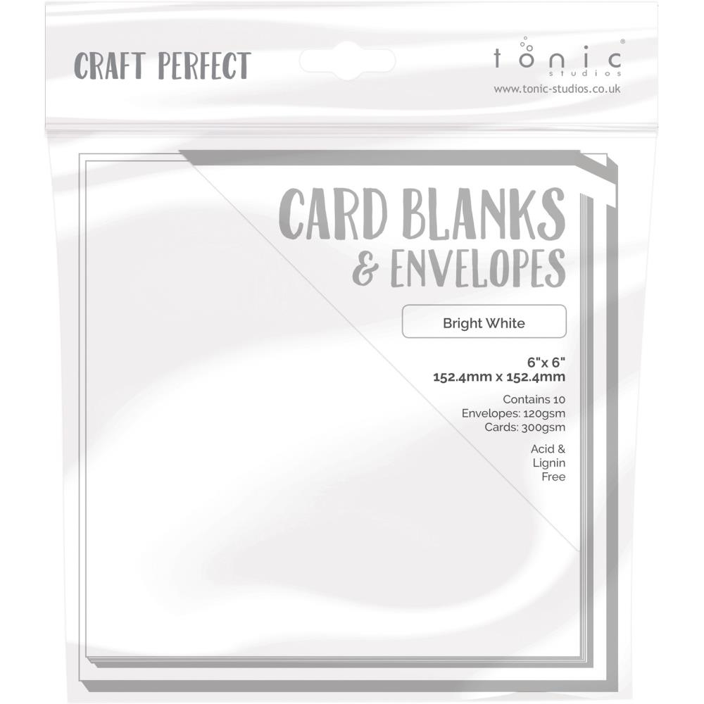 Tonic BRIGHT WHITE Craft Perfect 6 x 6 Card Blanks 9291e zoom image