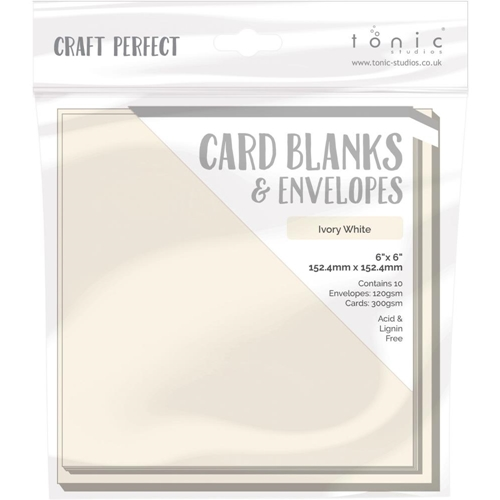 Tonic IVORY WHITE Craft Perfect 6 x 6 Card Blanks 9292e Preview Image