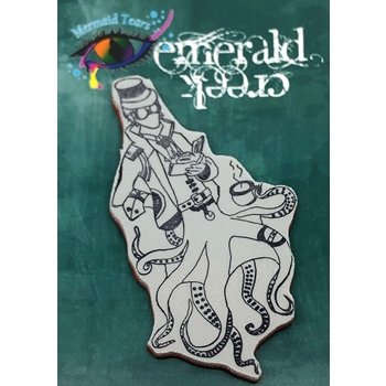 Emerald Creek SCHOLAR EVERARD Steampunk Sea Cling Stamp mtssse