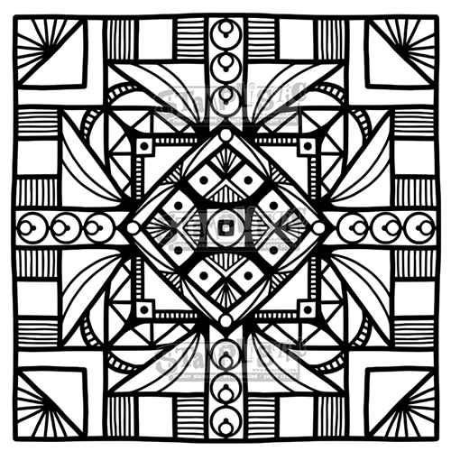 Stamplistic Cling Stamp SQUARED j190701 Preview Image