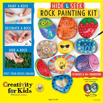 Faber-Castell HIDE & SEEK ROCK PAINTING KIT Creativity For Kids 6161000