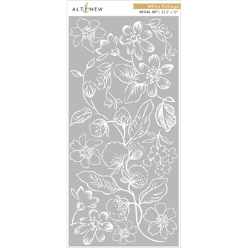 Altenew WHITE FOLIAGE Decal Set ALT3522