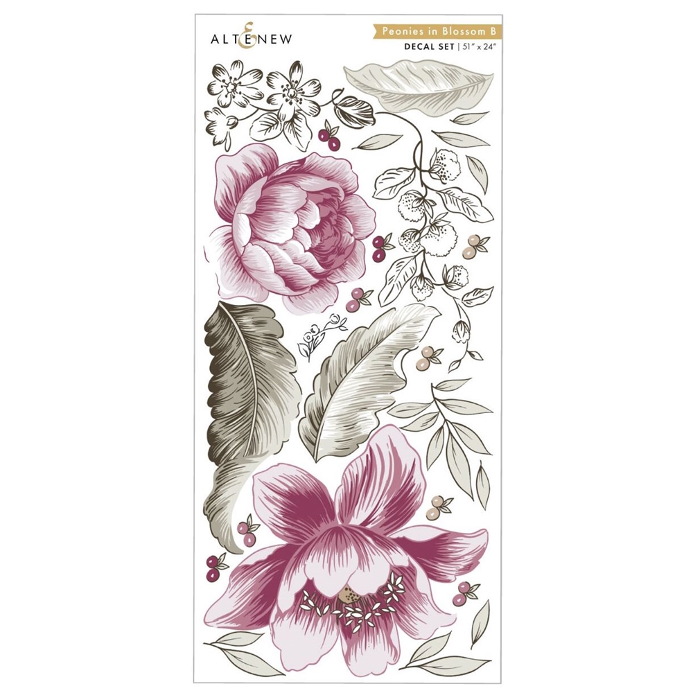 Altenew PEONIES IN BLOSSOM B Decal Set ALT3514 zoom image