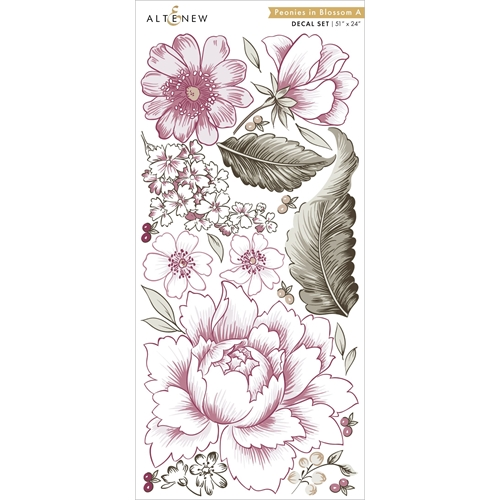 Altenew PEONIES IN BLOSSOM A Decal Set ALT3513 Preview Image