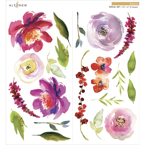 Altenew AMOUR Small Decal Set ALT3508 Preview Image