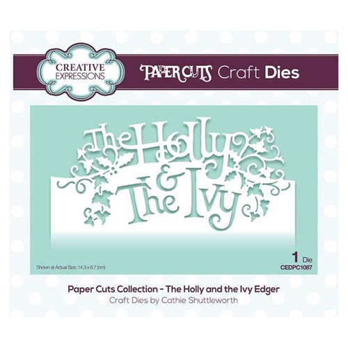 Creative Expressions THE HOLLY AND THE IVY EDGER Paper Cuts Collection Dies cedpc1087 Preview Image
