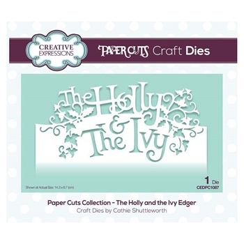Creative Expressions THE HOLLY AND THE IVY EDGER Paper Cuts Collection Dies cedpc1087