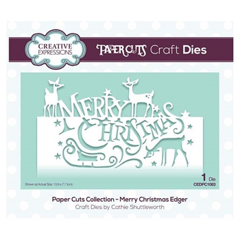 Creative Expressions MERRY CHRISTMAS Paper Cuts Collection Dies cedpc1083