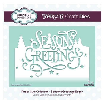 Creative Expressions SEASONS GREETINGS Paper Cuts Collection Dies cedpc1085