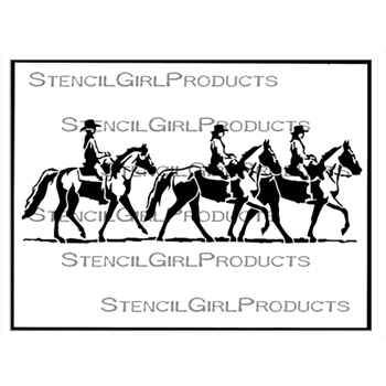 StencilGirl GONE RIDING 9x12 Stencil l734