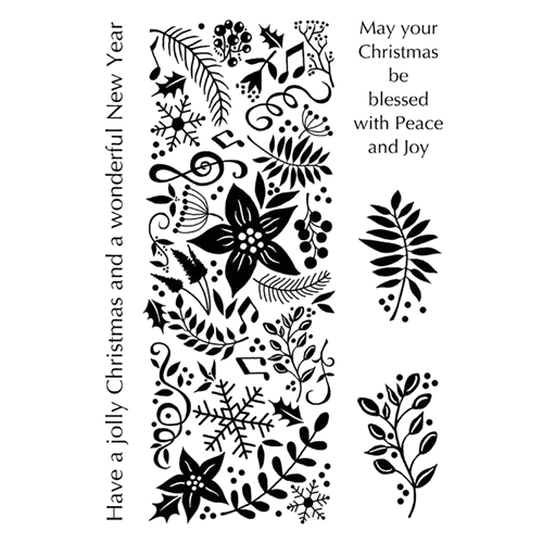 Woodware Craft Collection FESTIVE PANEL Clear Stamps jgs672 Preview Image