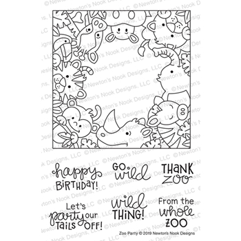 Newton's Nook Designs ZOO PARTY Clear Stamps NN1907S08