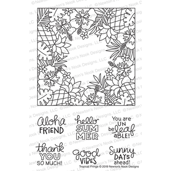 Newton's Nook Designs TROPICAL FRINGE Clear Stamps NN1907S09*
