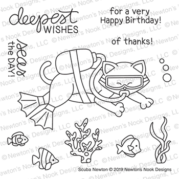 Newton's Nook Designs SCUBA NEWTON Clear Stamps NN1907S04