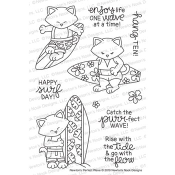 Newton's Nook Designs NEWTON'S PERFECT WAVE Clear Stamps NN1907S01