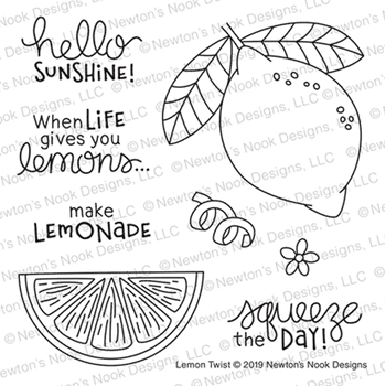Newton's Nook Designs LEMON TWIST Clear Stamps NN1907S03