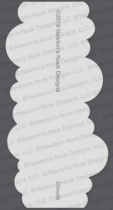 Newton's Nook Designs CLOUDS Stencil NN1907T05 zoom image