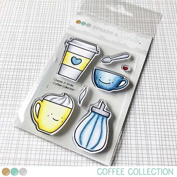 Create A Smile COFFEE COLLECTION Clear Stamps clcs114