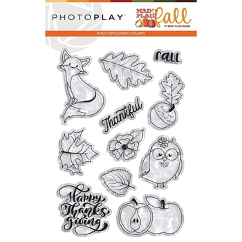 PhotoPlay MAD 4 PLAID FALL Clear Stamps mpf9552