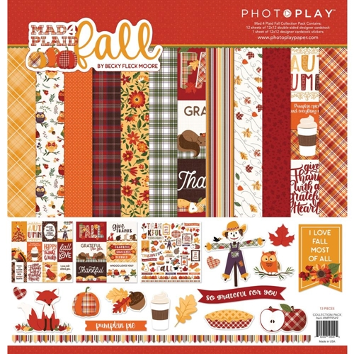 PhotoPlay MAD 4 PLAID FALL 12 x 12 Collection Pack mpf9549 Preview Image