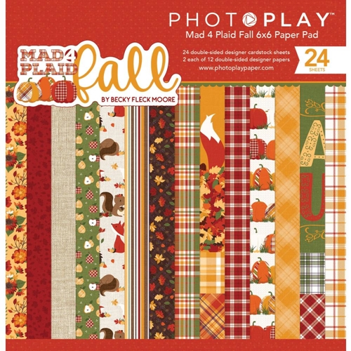 PhotoPlay MAD 4 PLAID FALL 6 x 6 Paper Pad mpf9551 Preview Image
