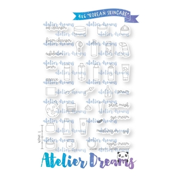 Atelier Dreams KOREAN SKINCARE Clear Stamp Set ad098