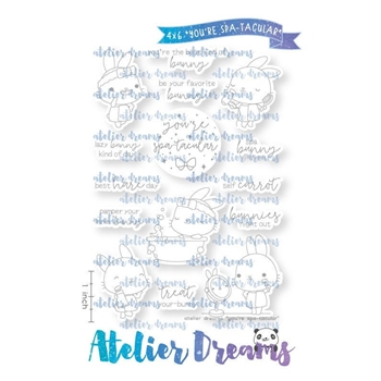 Atelier Dreams YOU'RE SPA-TACULAR Clear Stamp Set ad099 *