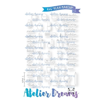 Atelier Dreams PLAN MAKEUP Clear Stamp Set ad100