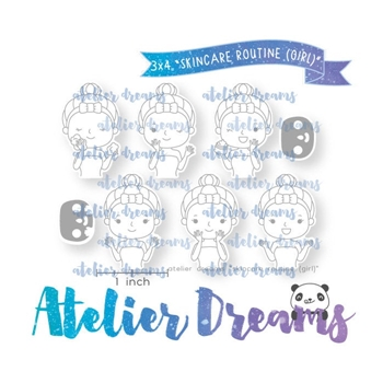 Atelier Dreams SKIN ROUTINE GIRL Clear Stamp Set adg046g*