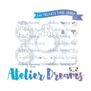 Atelier Dreams BEAUTY CARE GIRL Clear Stamp Set adg047g*