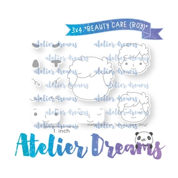 Atelier Dreams BEAUTY CARE BOY Clear Stamp Set *
