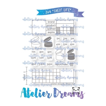 Atelier Dreams SHELF LIFE Clear Stamp Set adg048*