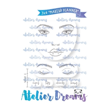 Atelier Dreams MAKEUP PLANNER Clear Stamp Set adg050