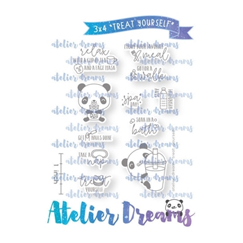 Atelier Dreams TREAT YOURSELF Clear Stamp Set adg052