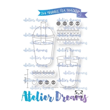 Atelier Dreams BUBBLE TEA TRACKER Clear Stamp Set adg053