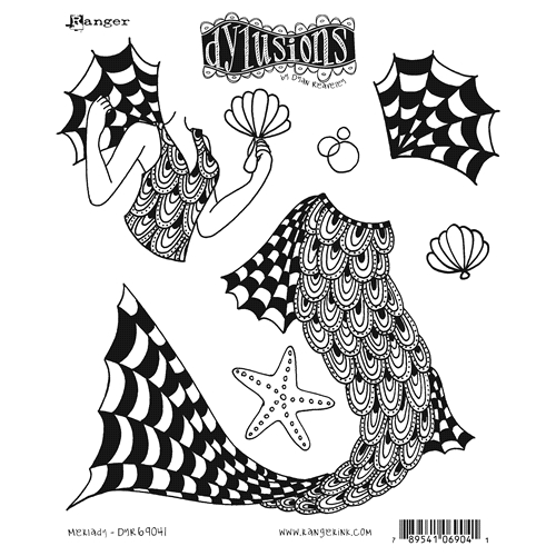 Dyan Reaveley MERLADY Cling Stamp Set Dylusions DYR69041 Preview Image