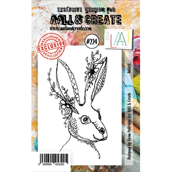 AALL & Create RABBIT 224 Clear Stamps aal00224