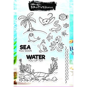 Brutus Monroe Clear Stamps UNDER THE SEA bru4744