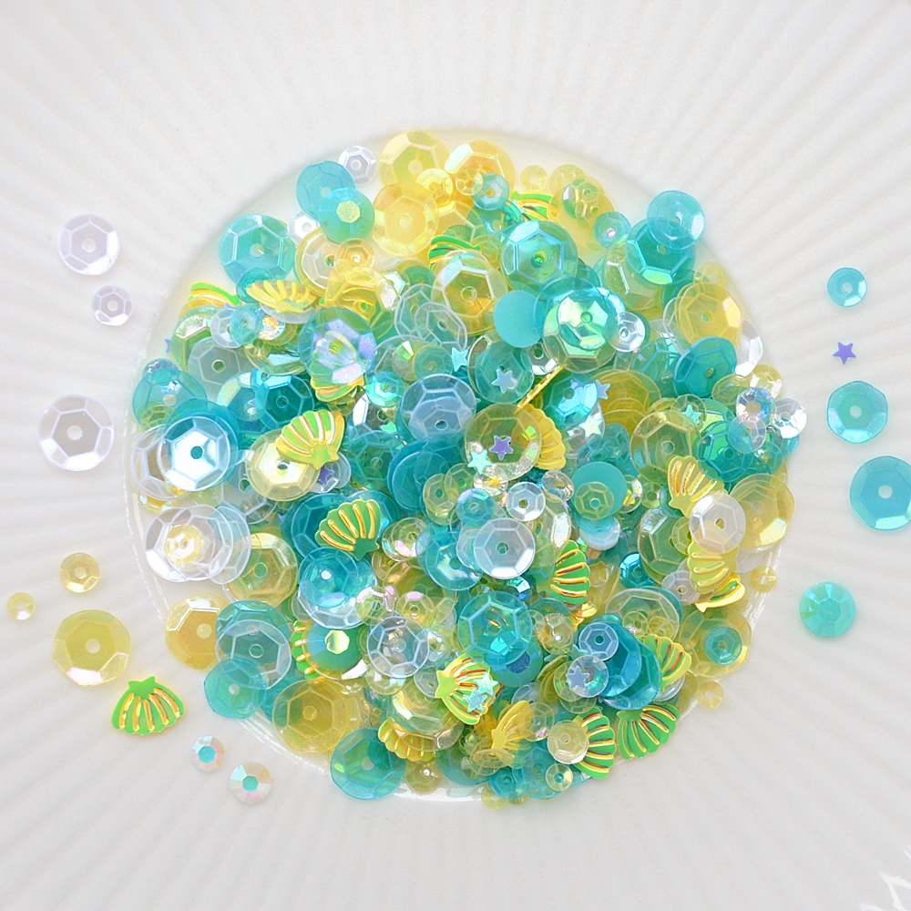 Little Things From Lucy's Cards SEASHORE Sequin Mix LB269 zoom image