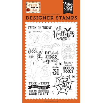 Echo Park ALL HALLOW'S EVE Clear Stamps tt186042
