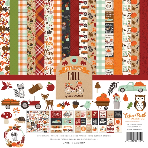 Echo Park MY FAVORITE FALL 12 x 12 Collection Kit mff187016 Preview Image